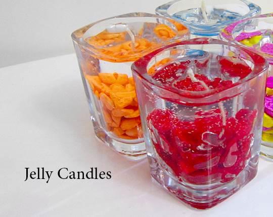 شمع سنگی ژله ای JELLY CANDLES