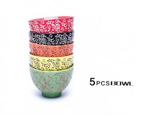 multi-colored-bowl-ceramic-cup-set