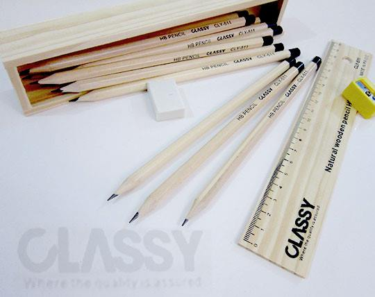 مداد مشکی جعبه چوبی CLASSY