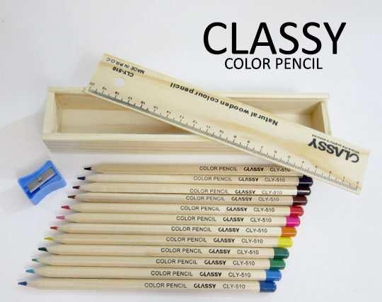 جعبه مداد رنگی 12 تایی CLASSY