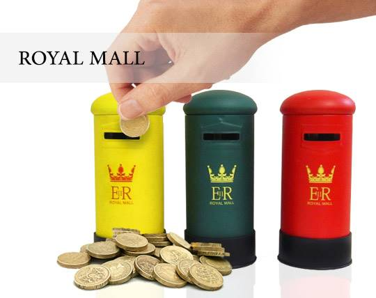 قلک فلزی طرح صندوق پست ROYAL MALL