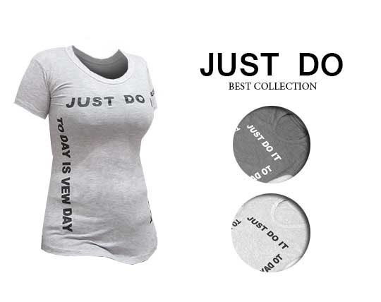 women-t-shirt-melange-just-do