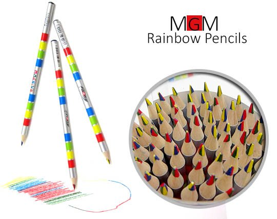 مداد رنگین کمانی RAINBOW