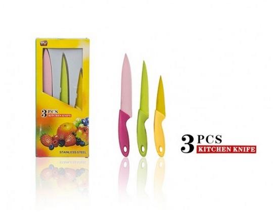 چاقوی 3 تکه سرامیکی رنگی Kitchen Knife