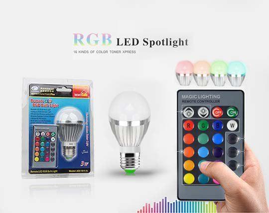 لامپ LED رنگی ریموت دار
