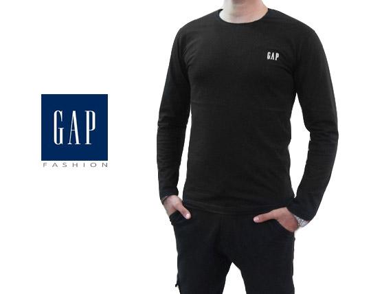 تیشرت مردانه آستین بلند مشکی GAP