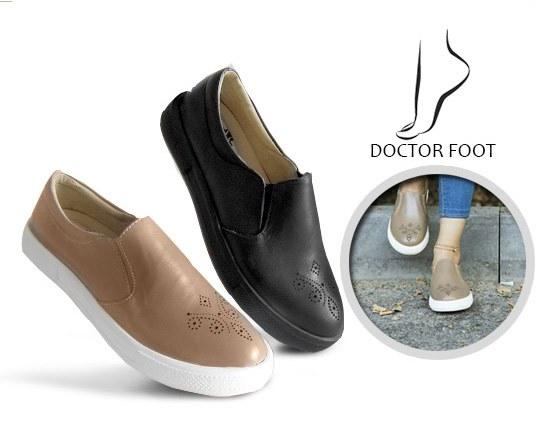 کفش پیاده روی با چرم طبیعی DR Foot