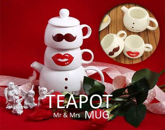 teapot-and-ceramic-cup-mustache-design