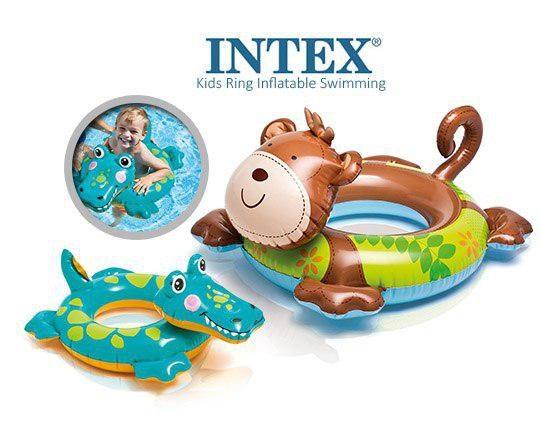 حلقه شنا کودک INTEX طرح حیوانات