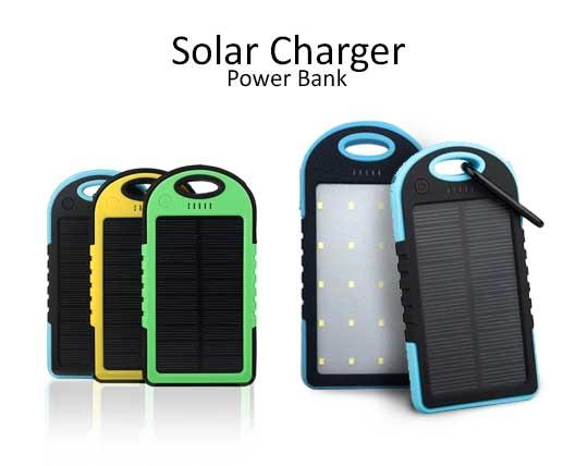 پاوربانک خورشیدی چراغ قوه دار 10000MAh