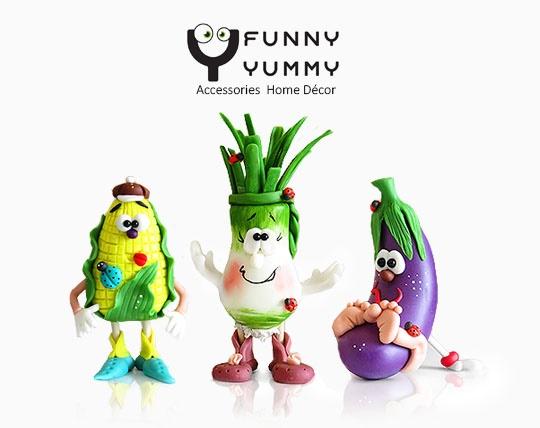 مجسمه های خمیری سبزیجات سایز بزرگ  FUNNY YUMMY