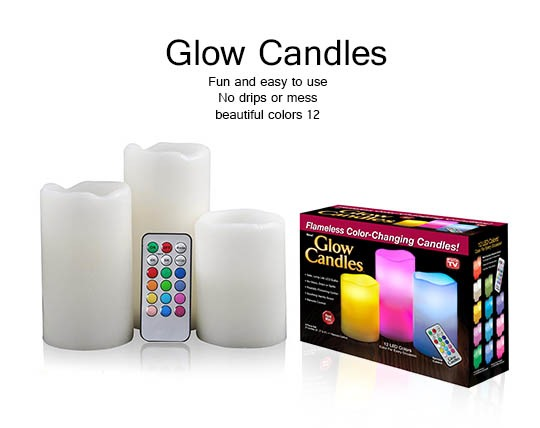 شمع ریموت دار 3 تایی Luma Candle