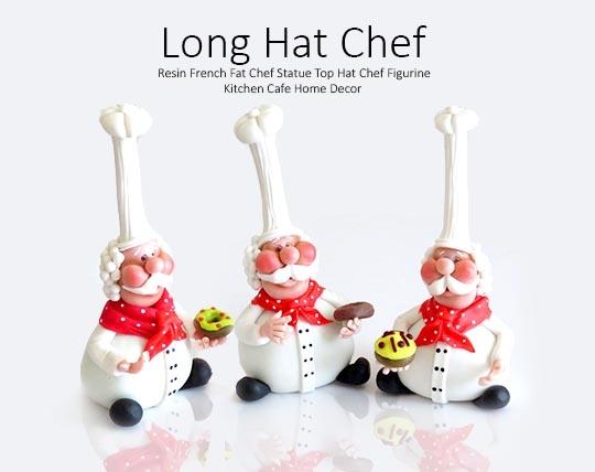 مجسمه آشپز سایز بزرگ Long Hat Chef