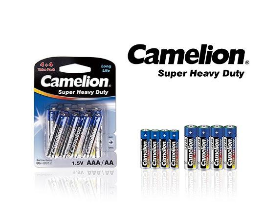 پک 8 تایی باتری قلم و نیم قلمی CAMELION