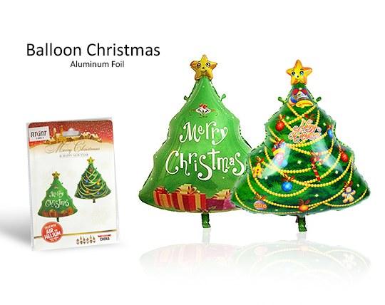 بادکنک فویلی درخت کریسمس Merry christmas
