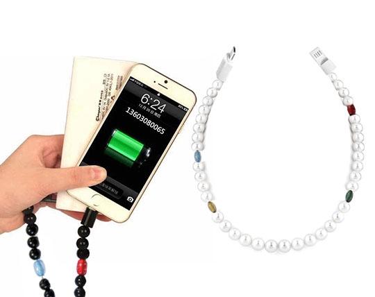 کابل شارژ و سینک طرح گردنبندی