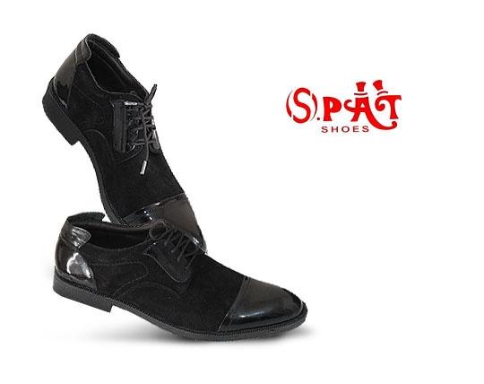 کفش مردانه ورنی با چرم طبیعی SPAT