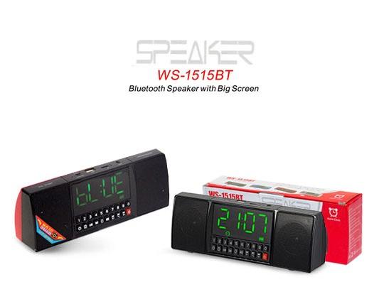 اسپیکر بلوتوثی و ساعت دیجیتال WS 1515BT