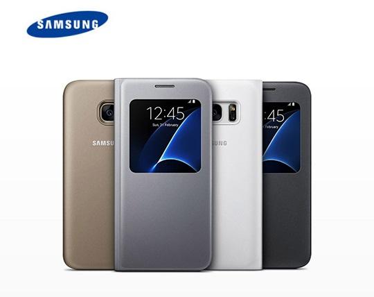 کیف کلاسوری سامسونگ اصلی S View Cover Samsung S7