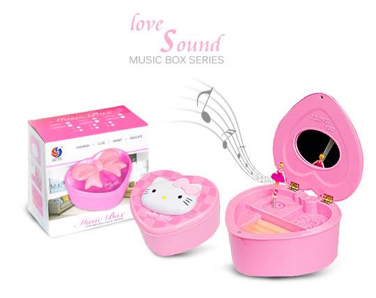 جعبه جواهرات موزیکال طرح Hello Kitty