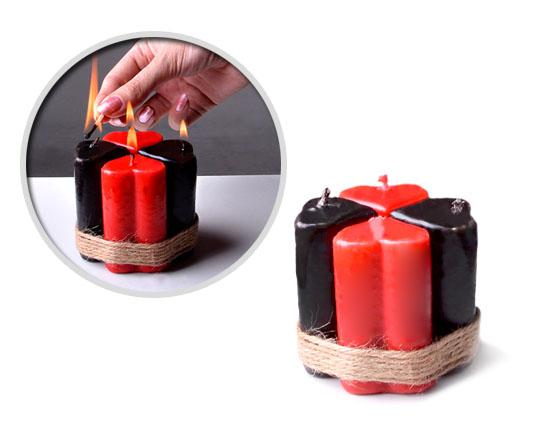 پکیج شمع 4 عددی طرح قلب