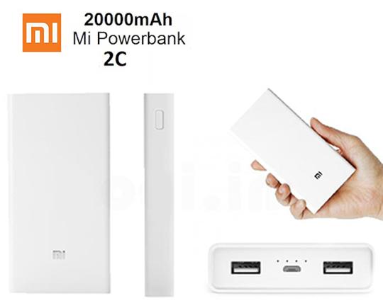 شارژر همراه شيائومي مدل Xiaomi 20000Mah 2c