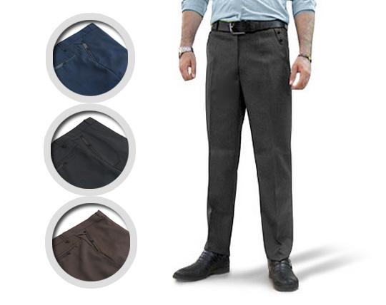شلوار پارچه ای طرح دار مردانه