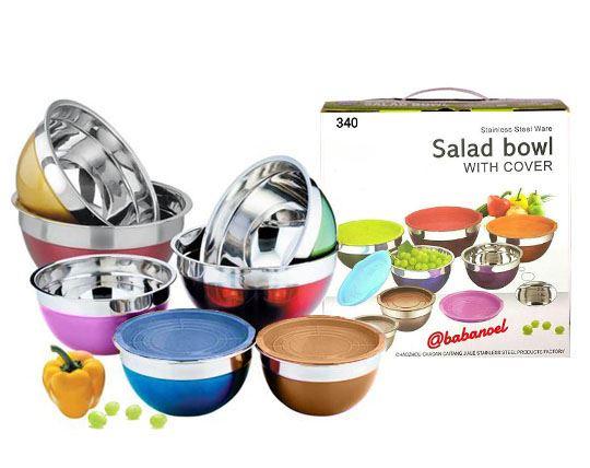 ست 7 تکه کاسه سالاد رنگی Salad Bowl