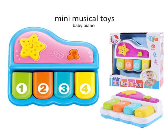 پیانو موزیکال و رقص نور کودک MINI MUSICAL PIANO