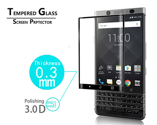 محافظ صفحه نمایش شیشه ای تمام صفحه BlackBerry Keyone