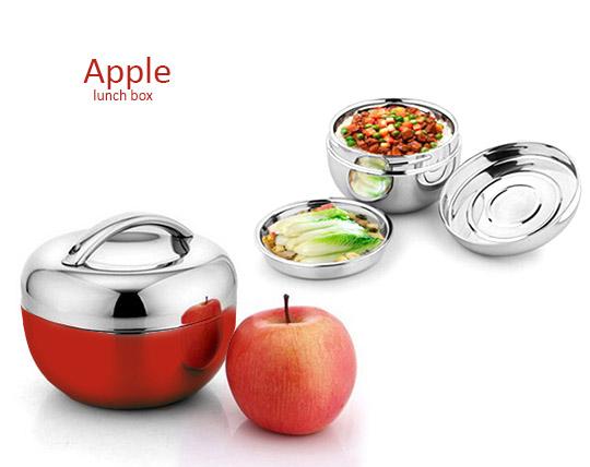 ظرف غذای دو طبقه طرح سیب