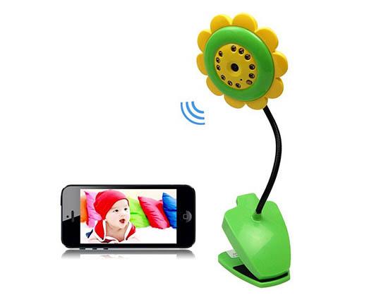 دوربین بیسیم نظارتی کودک طرح گل MAcro See