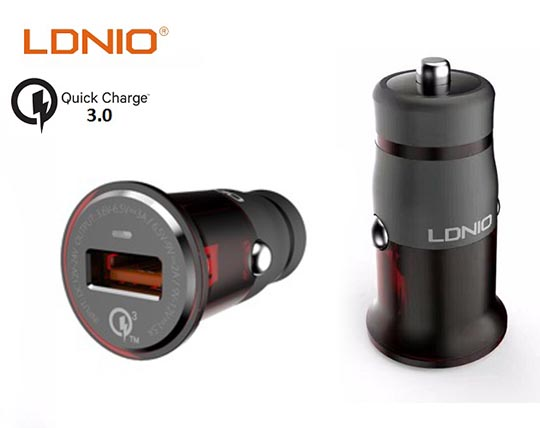 شارژر فندکی LDNIO Qualcomm Quick Charge3