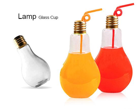 ماگ شیشه ای طرح لامپ Lamp glass cup