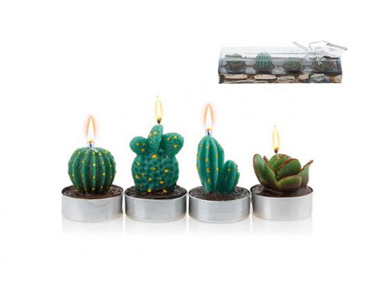 شمع تزئینی طرح کاکتوس