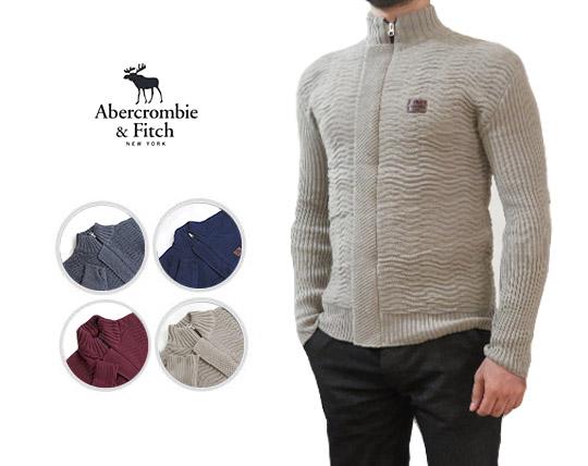 سوییشرت بافت جلو زیپ دار Abercrombie