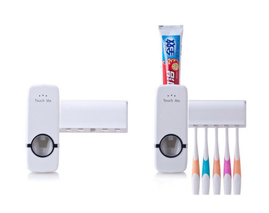 automatic-toothpaste-dispenser-toothbrush-holder-set