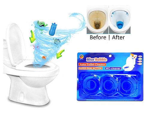 پکیج 3 عددی قرص توالت فرنگی Blue Bubble