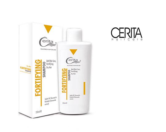 شامپو تقویت کننده و ضد ریزش سریتا مدل Fortifying موهای خشک