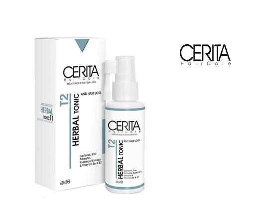 تونیک مو ضد ریزش سریتا Cerita Herbal tonic T۲
