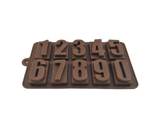 قالب شکلات سیلیکونی طرح اعداد