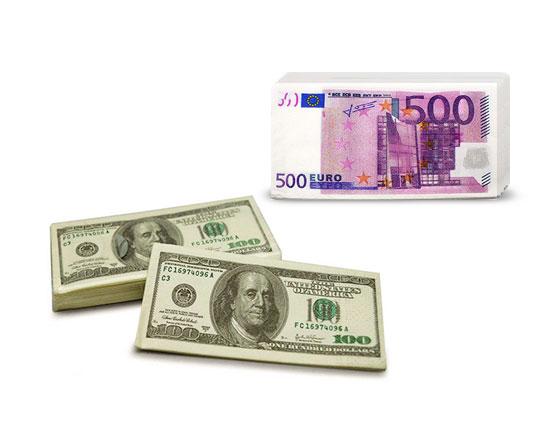 دستمال کاغذی طرح دلار