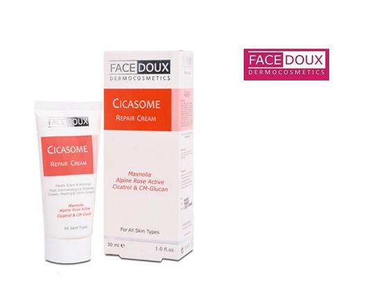 کرم ترمیم کننده پوست سیکازوم فیس دوکسFacedoux Cicasome