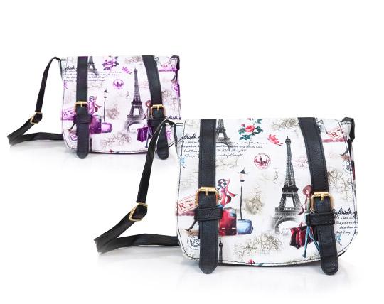 کیف دوشی زنانه طرح دار