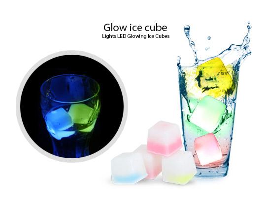 بسته 4 عددی مکعب یخ نورانی GLOW ICE