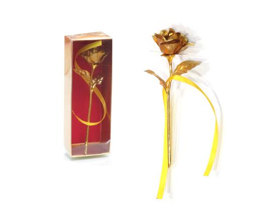 گل طلا جعبه دار کادویی سایز کوچک