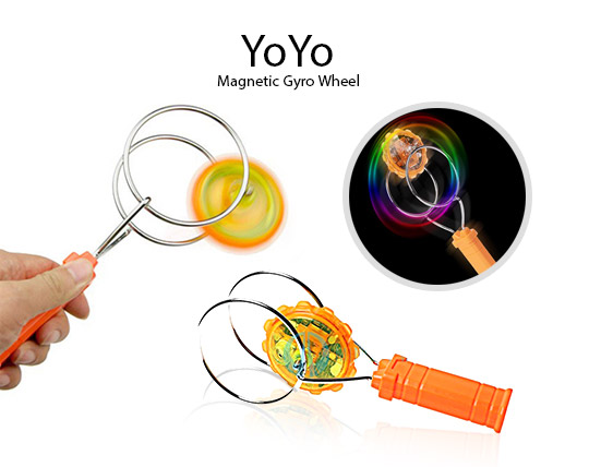 چرخ و فرفره جادویی چراغ دار Gyro wheel