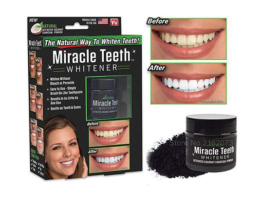 پودر ذغال سفید کننده دندان Miracle Teeth