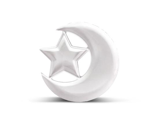 اردورخوری سرامیکی طرح ماه و ستاره