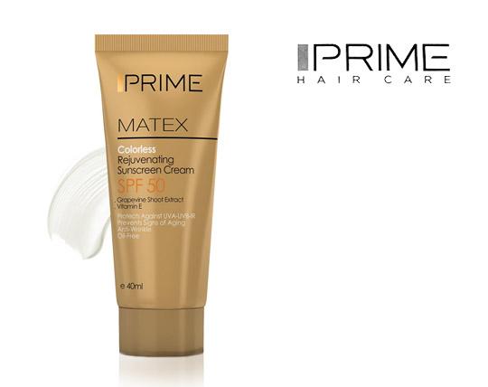کرم ضد آفتاب بی رنگ و جوان کننده پریم Prime Matex Rejuvenating